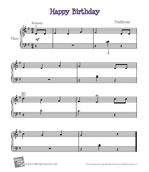 How to Play Happy Birthday Song on Keyboard and Piano Sheet Music