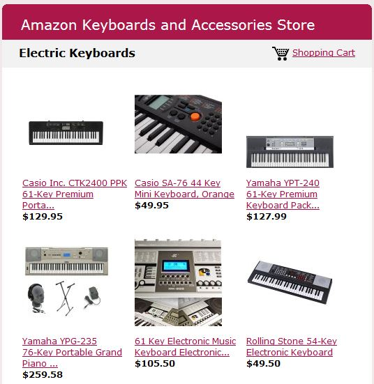 Piano Keyboards on Amazon