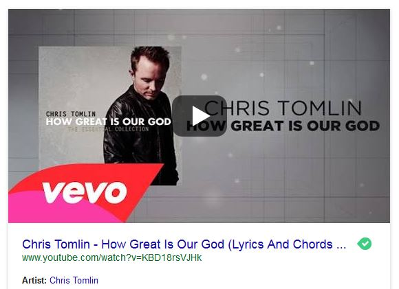 How Great is Our God Piano Chris Tomlin