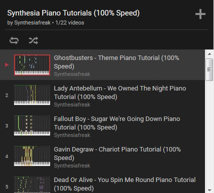 Piano Tutorials Playlist
